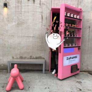 zappangi cafe vending machine pop out