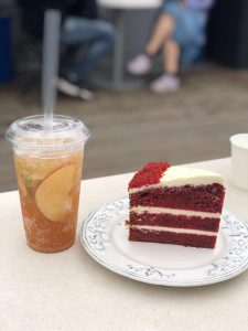 common ground RV cake and cinamon apple ade