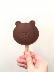line cafe brown icepop