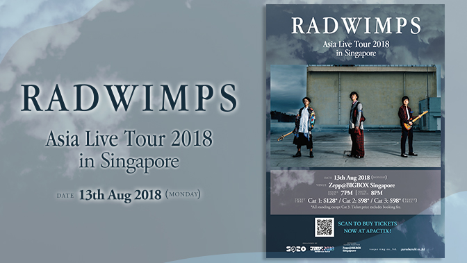 RAD WIMPS Asia Live Tour 2018 in Singapore
