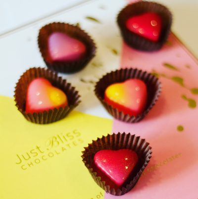 heartshaped chocolate from Just Bliss
